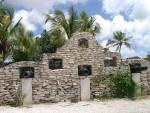 Mauer eines Kolonialhauses