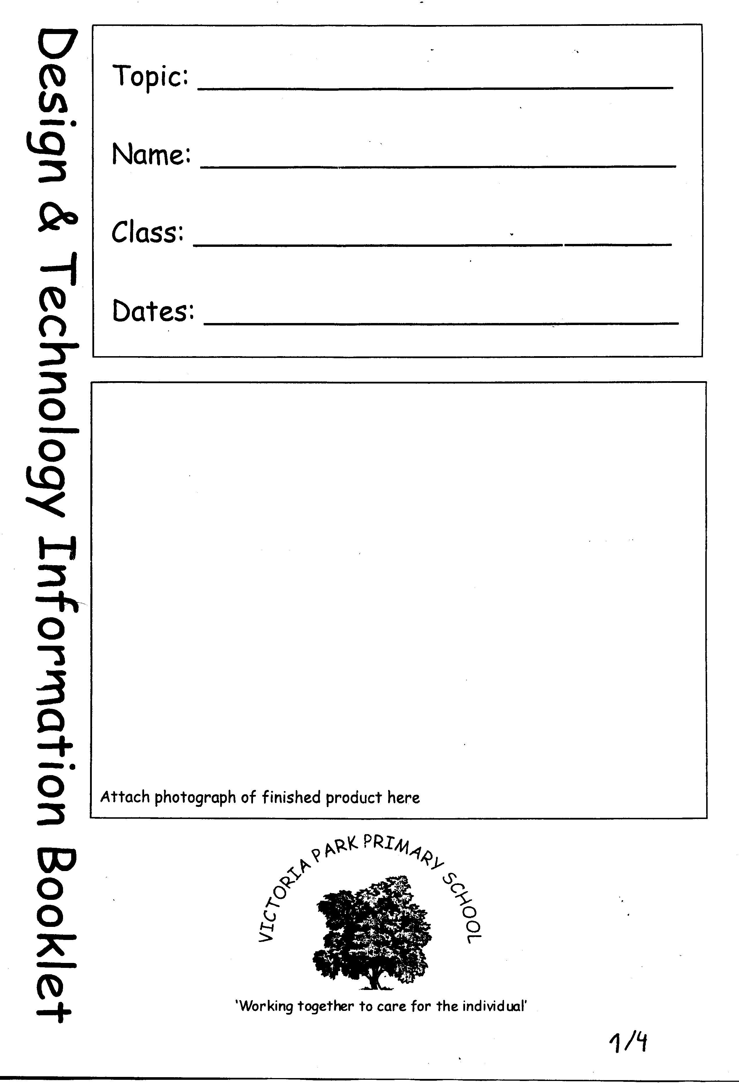 Bewertungsbogen der Victora Park School