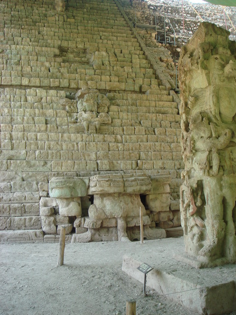 Copan Treppe der Inschriften