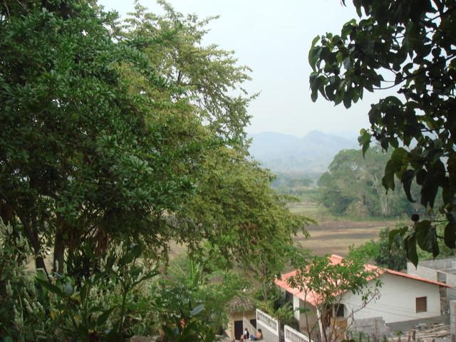 vista del restaurante en Copan