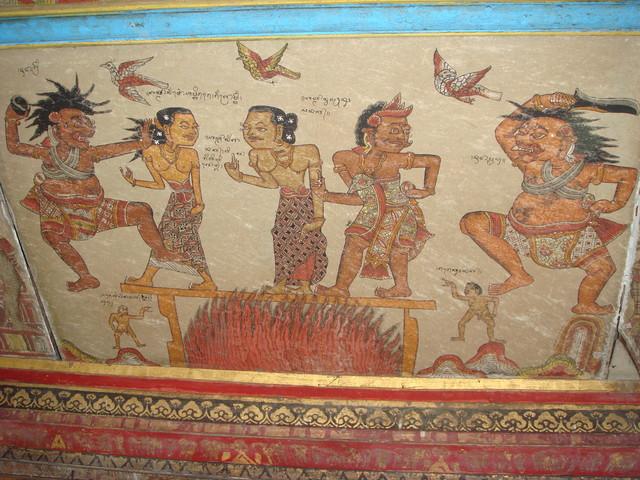Bild in der Kerta Gosa in Klungkung