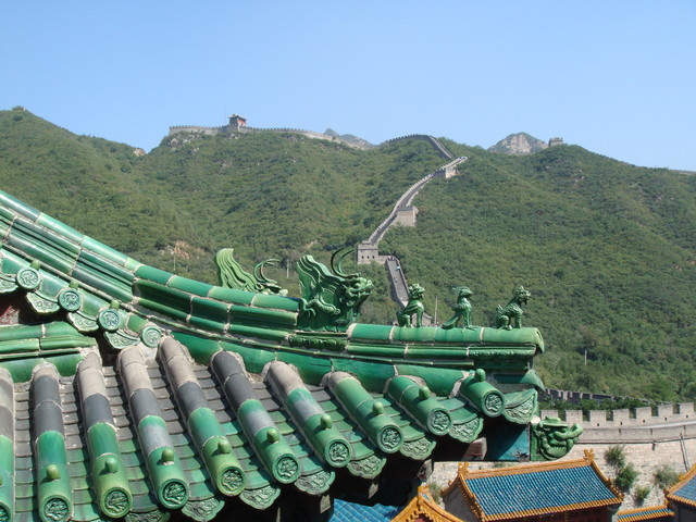 Tempel an der chinesischen Mauer