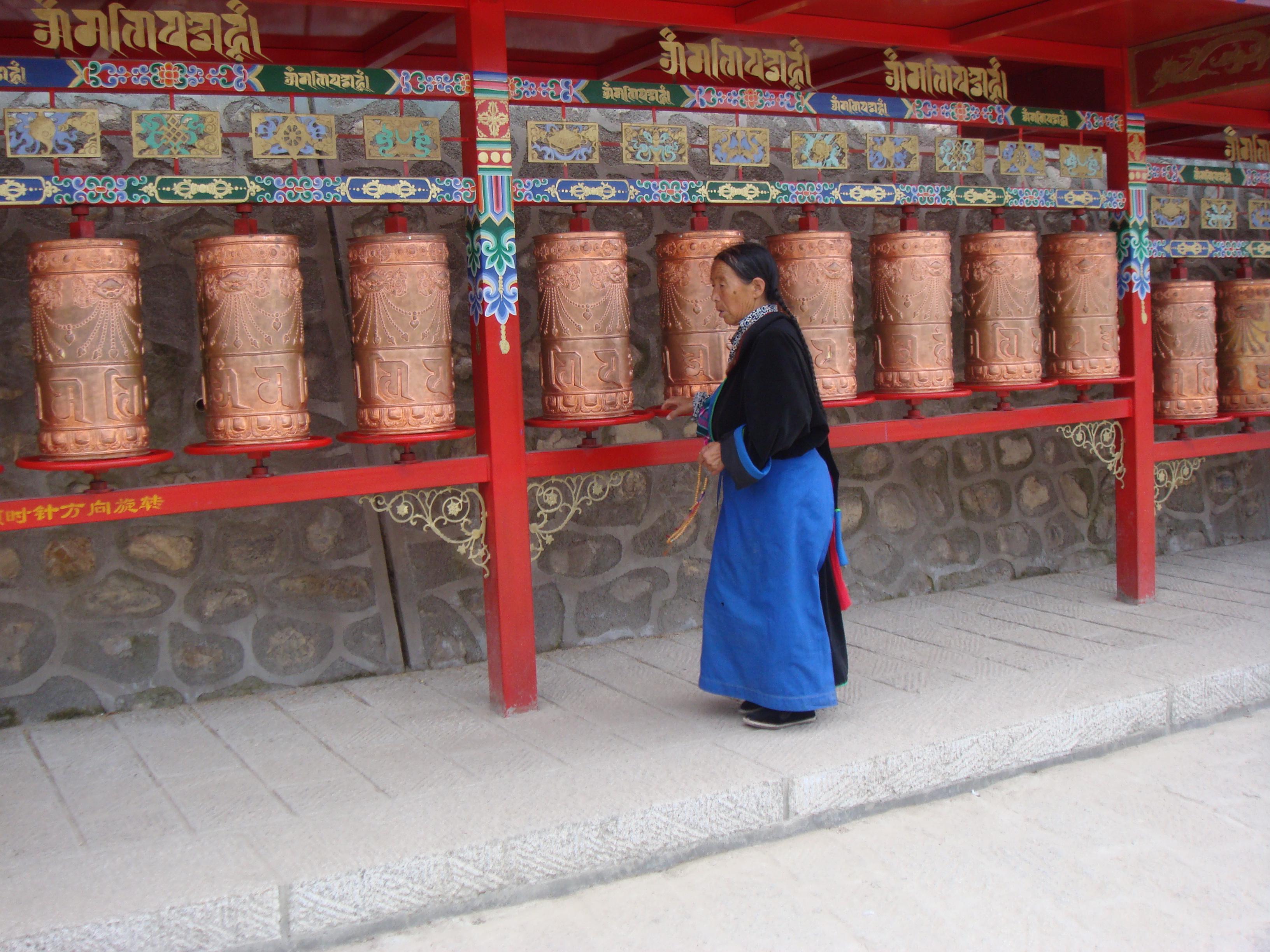 Xining vor dem Kumbum-Kloster