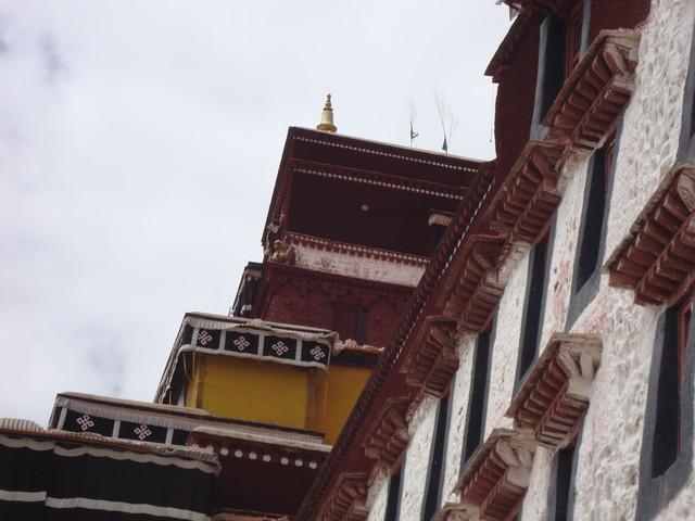 Seitenblick im Potala Palast Lhasa