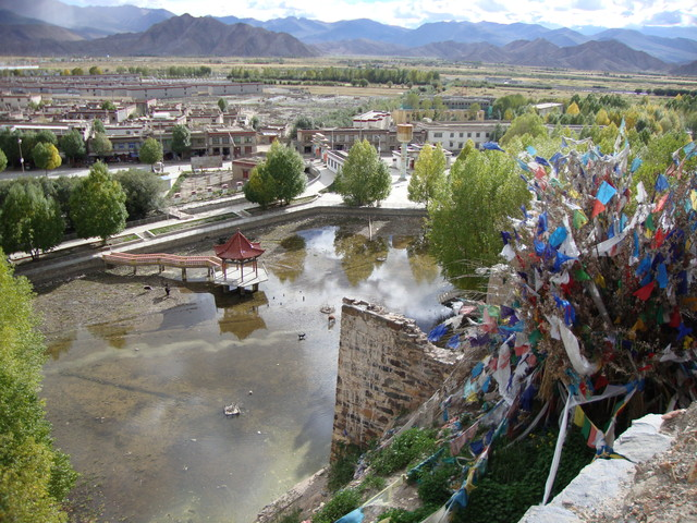 Gyantse Festung: Blick ins Tal