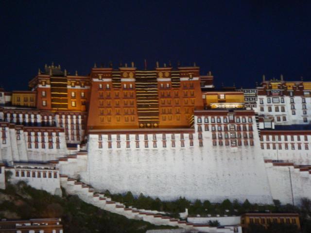 potala Palast Lhasa in der Nacht