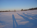 wunderbare lange Schatten
