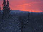 Sonnenuntergang nach der Neujahrstour