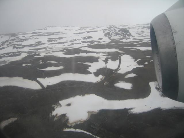 Anflug auf die Antarktis