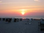 sunset in Wangerooge