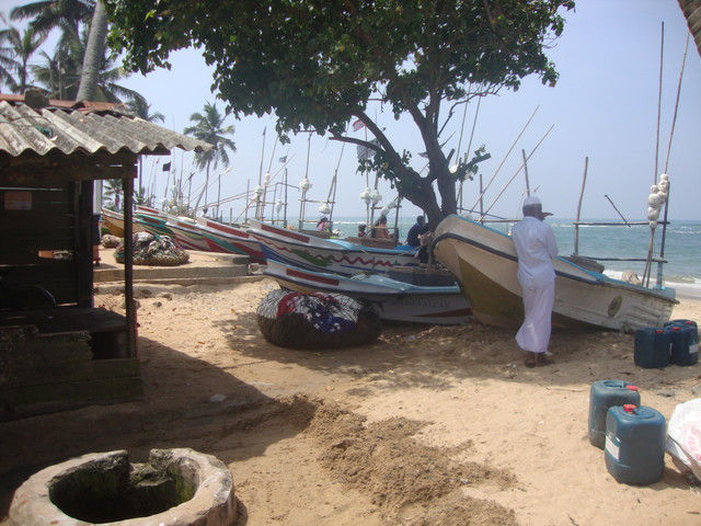 Fischerhafen in Beruwale