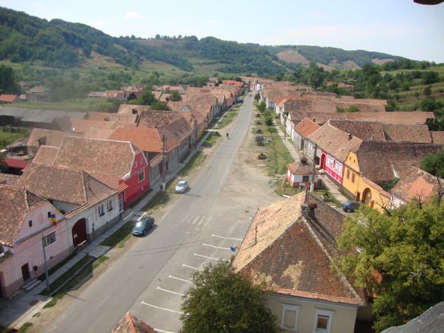 Blick vom Kirchturm Wurmloch auf das Dorf