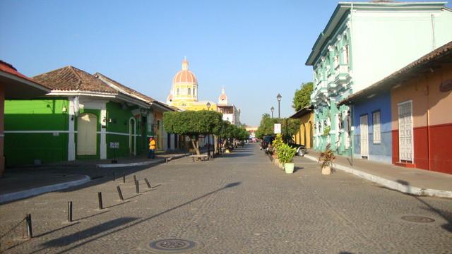 Granada Touristenmeile am Morgen