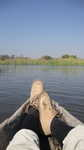 bequeme Fahrt durchs Delta im Mokoro