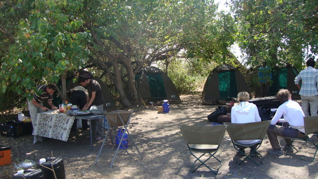 Okawangodelta unser Camp