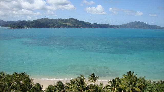 Blick von meinem Balkon auf Hamilton Island