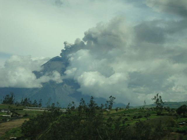 Vulkanausbruch Tungurahua 27.2.2016