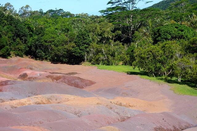 die siebenfarbige Erde bei Chamarel