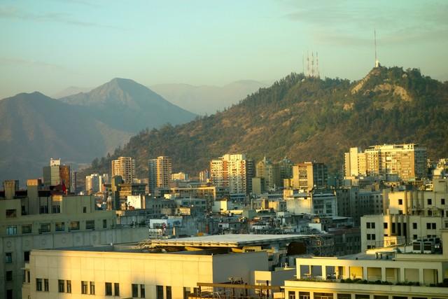 Blick vom RQ zum Cerro San Cristobal