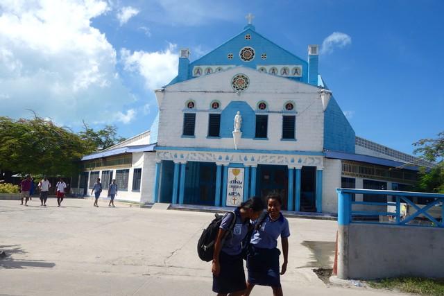 eine Kirche in Südtarawa