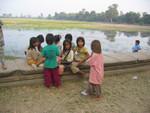 K a Kinder vor Angkor Wat