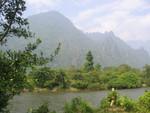 Flusslandschaft bei Vang Vieng