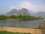 Nam Song-Ufer vor dem Guesthouse