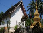 Dorftempel am Mekong