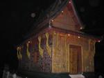 Luang Prabang rote Kapelle bei Nacht