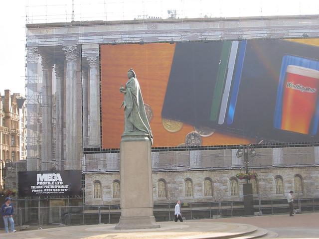 Queen victoria and advertisement