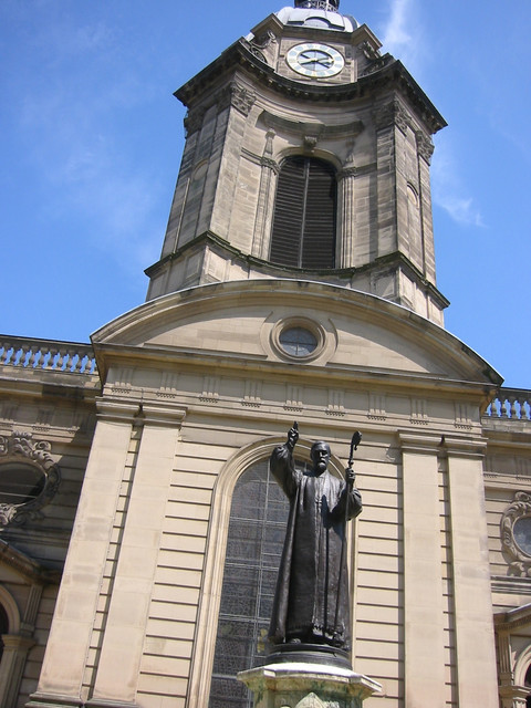 bishops' statue in front of the cathedral