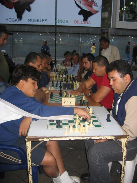 Schachspieler in Caracas
