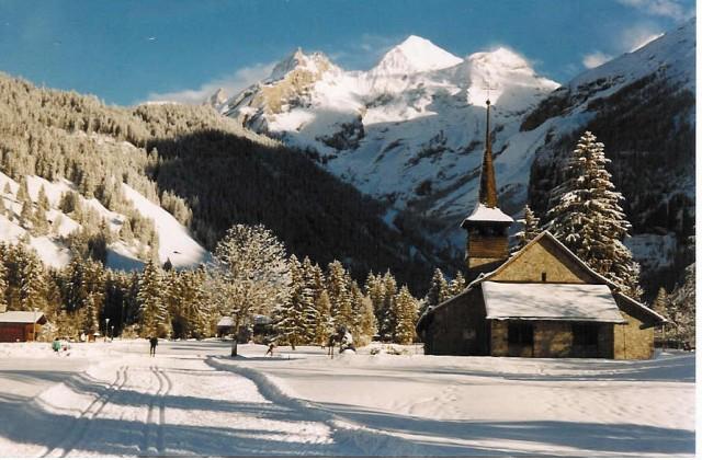 la iglesia catolica de Kandersteg